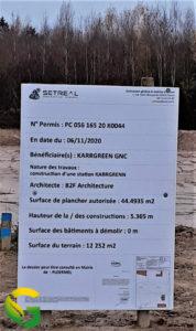 Panneau de chantier Ploërmel